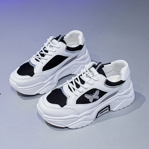 Platform-Breathable-Walking-Sneakers-New-Stylish-Butterfly-Laser-Women-Luminous-Causal-Shoes-5CM-Cushioning-Breathable-Sneakers