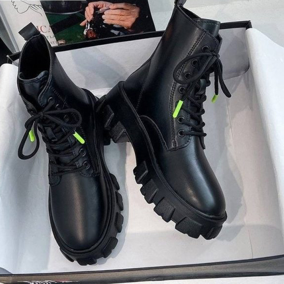 Round-Toe-Lace-Up-Boots-Booties-Ladies-Brand-Women-s-Shoes-Flat-Heel-Winter-Boots-women